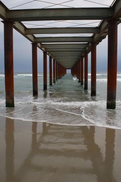 Temporary pier, St Kilda Beach, Dunedin