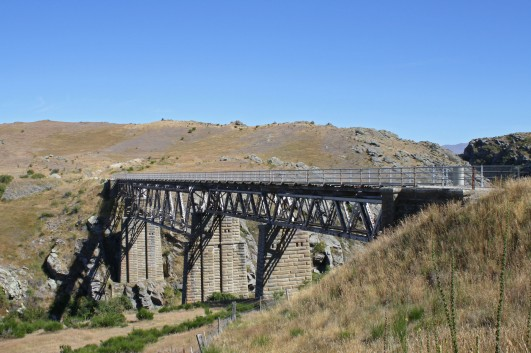 The amazing Poolburn Viaduct, regarded as the most impressive structure on the trail