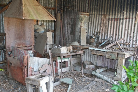 An olden days man shed