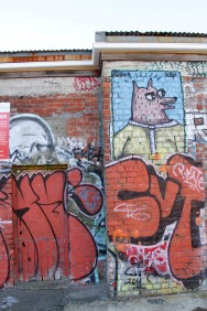 Off Garrett St, layers of creative expression over many years with a dash of BMD