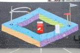 Carpark off Willis/Victoria Streets, art by BMD