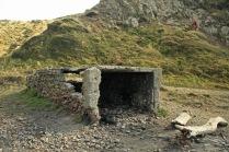 Stone shelter, Makara beach