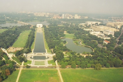 View from the top of the  Washington Monument, 2004