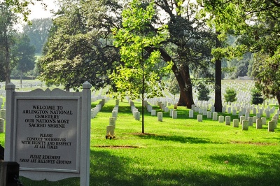 Visiting Arlington Cemetery in 2004