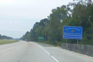 louisiana sign on interstate