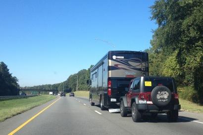 motorhome on interstate