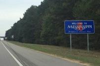 mississippi sign on interstate