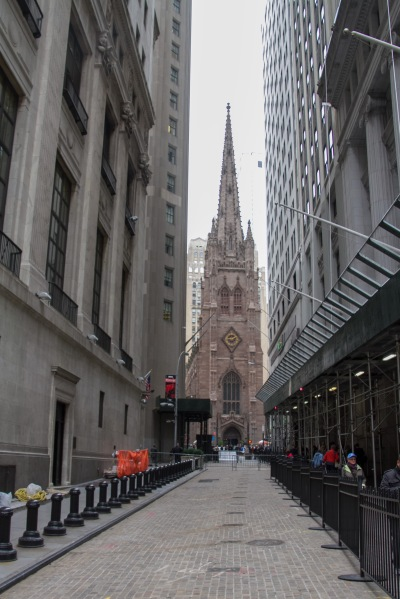 Trinity Church from Wall St