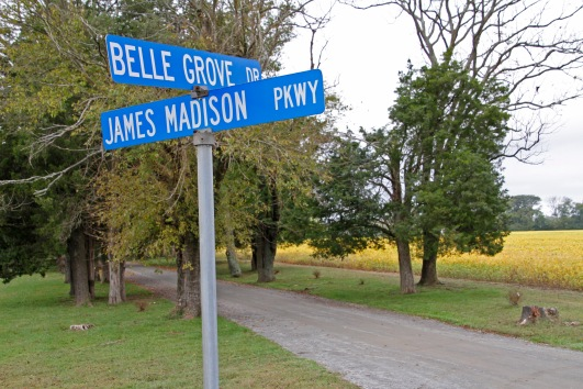 belle grove plantation, signposts