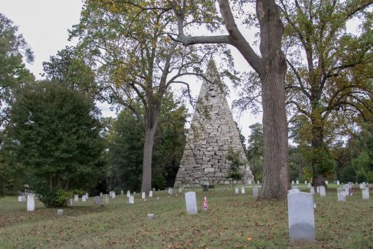 The 90-foot memorial pyramid was built in 1869