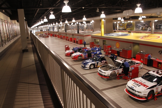 Another great viewing platform at the Penske race shop