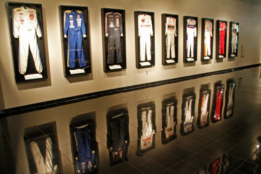 racing suits, dale earnhardt showroom