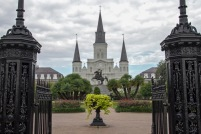 St Louis Cathedral across Jackson Square, apparently the oldest continuously operating cathedral in the US