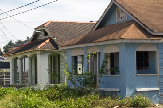 katrina-damaged house