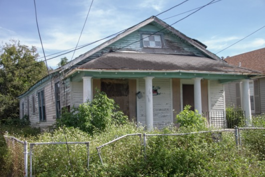 katrina-damaged house