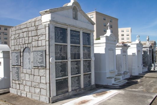All of the names listed - A LOT - have been buried in this tomb, made possible because of their efficient burial practices