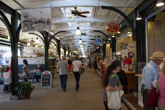 Further along and a block or so back from the water, French Market is one of those touristy areas but is worth a look