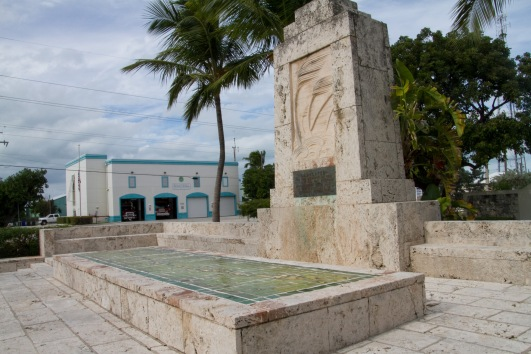 The memorial to those lost in the 1935 Labour Day hurricane