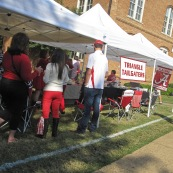 pre-game tailgating, alabama quad