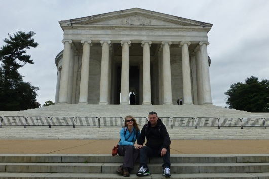 Relatively few people made the trek round to the Jefferson memorial which provided a rare opportunity to get a photo without the usual crowds. One upside of the shutdown!