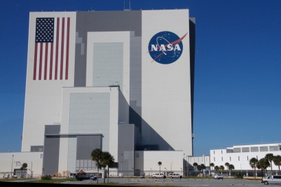 The Vehicle Assembly Building - the tallest one story building in the world