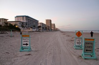 Traffic signs on Daytona Beach