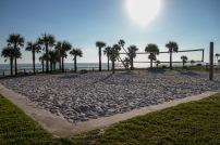 Beach volleyball court, Daytona Beach