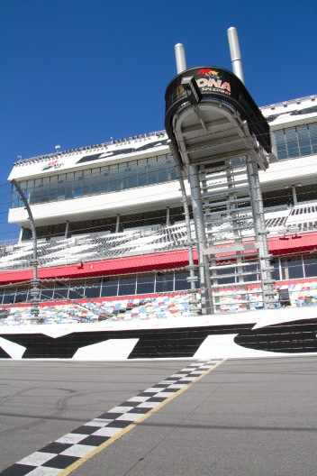 Start/finish line, Daytona International Speedway