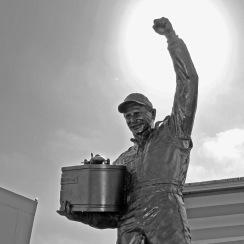 Dale Earnhardt Sr won seven Winston Cups but died in a last-lap crash in the 2001 Daytona 500