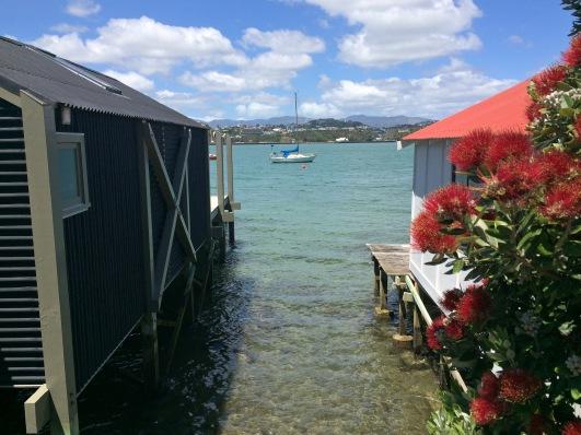Boat sheds, Evans Bay