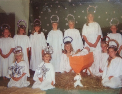 There used to be a Carol Service each Christmas (I'm kneeling on the right, slightly obscured)