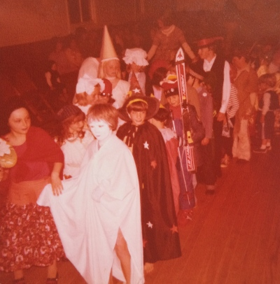 Dress up party (that's me in the 'medieval princess hat')
