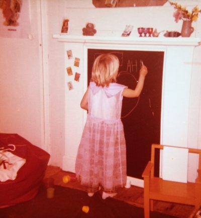 Little me in the old 'Womble Room'