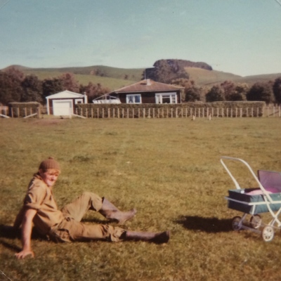 And this was it in 1972 - that's me in the pram!