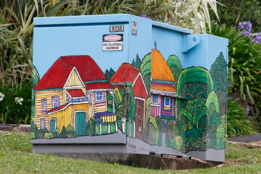 A dinky painted transformer box