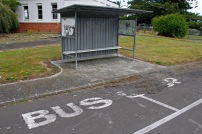 Old bus stop, Kingseat Hospital