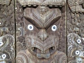 An intense chap on the Whakapapa visitor centre