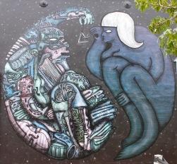 Street art by BMD / cnr Bond & Victoria