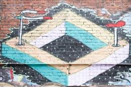 Street art by BMD / off Opera House Lane