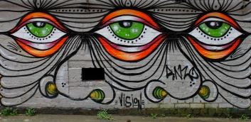 Street art by Vision / behind Opera House Lane