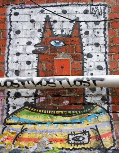 Street art by BMD / behind Opera House Lane