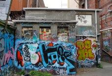 Graffiti and tagging / behind Opera House Lane