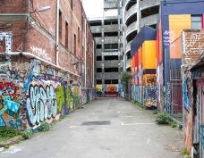 Art, graffiti, tagging / lane behind Opera House Lane