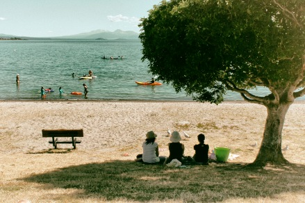 Enjoying summer at Lake Taupo