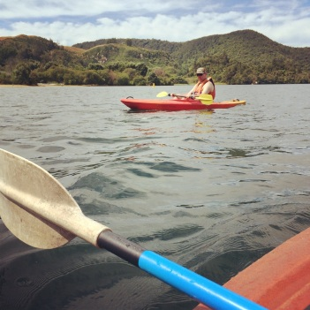 Kayaking on Lake Okareka