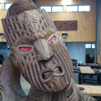 Tekoteko inside the Wood Carving School