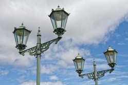 Old lamps, Government Gardens, Rotorua