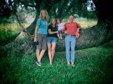 With my cousins Nicki and Simon, and Nicki's daughter Grace.