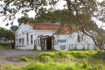 Old dairy factory at Te Kaha
