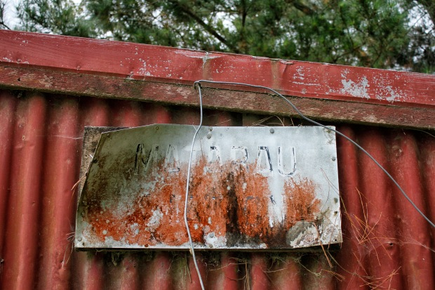 That's the original Matarau Station sign on the shelter - not that you'd realise.